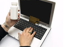 Buying medicine online Royalty Free Stock Image