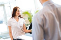 Buying a new car Royalty Free Stock Photography