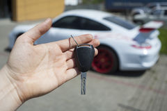 Buying new car stock photography