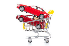 Buying a new car royalty free stock photos