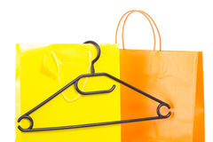 Buying new clothes for the winter season Royalty Free Stock Image