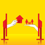 Buying new home for family concept design vector illustration