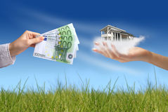 Buying new house royalty free stock image