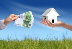 Buying new house stock image