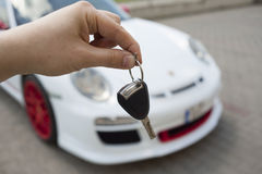 Buying a new sport car Stock Photography