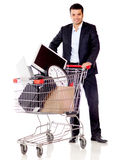 Buying office supplies Stock Photo