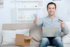 Buying online faster and easier Stock Image