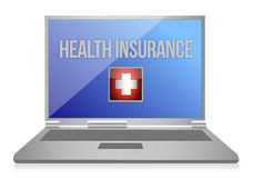 Buying online health insurance concept Stock Photo
