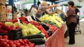 Buying Organic Food stock footage