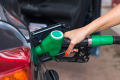 Buying petrol Royalty Free Stock Image