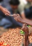 Buying potatoes Stock Image