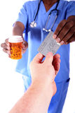 Buying Prescription Drugs Royalty Free Stock Photos