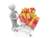 Buying Present Stock Image