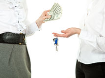 Buying or renting real estate Stock Photo