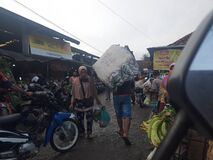 buying and selling atmosphere in the main market of Majenang Cilacap, Central Java, Indonesia