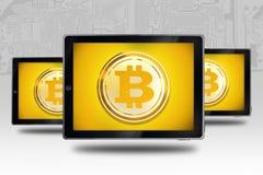 Buying Selling Bitcoin Concept Stock Photos
