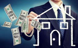 Buying or Selling a House Concept Stock Image