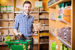 Buying some healthy food at the supermarket Royalty Free Stock Photo