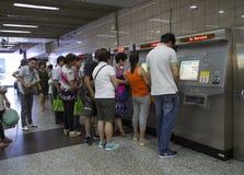 Buying subway ticket Royalty Free Stock Image
