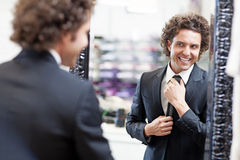 Buying a Suit Royalty Free Stock Photography