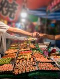 Buying Sushi in a local market royalty free stock images
