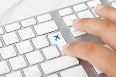 Buying Tickets online. Online Tickets Key On Computer Keyboard Stock Image