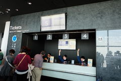 Buying Tokyo Sky Tree second desk Ticket Royalty Free Stock Image
