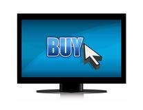 Buying in tv illustration Stock Photos