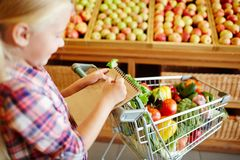 Buying vegs Royalty Free Stock Image