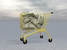 Buying wealth - 3D render Royalty Free Stock Photography