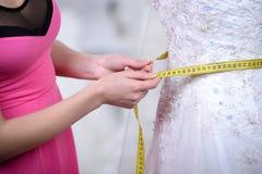 Buying Wedding Dress Royalty Free Stock Photography