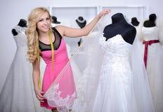 Buying Wedding Dress Stock Photo