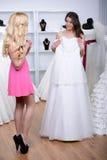 Buying Wedding Dress Royalty Free Stock Photo