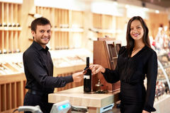 Buying wine Stock Photo