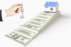Buying your home mortgage concept Stock Photography