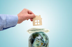 Buying your own home symbol Royalty Free Stock Photos