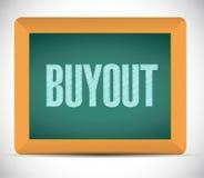 Buyout board sign illustration design Stock Images