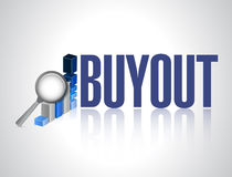 Buyout business graph review sign Royalty Free Stock Image