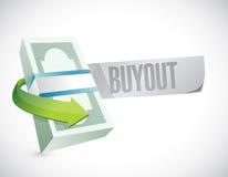 Buyout money bills sign illustration Royalty Free Stock Image