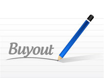 Buyout sign message illustration design Stock Images