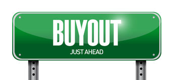 Buyout street sign illustration design. Over a white background Royalty Free Stock Photos