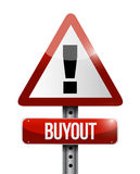 Buyout warning sign illustration design Stock Photos