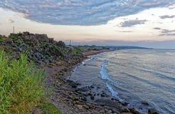 The Buyuk beach in Side. The Büyük beach in Side, Turkey Royalty Free Stock Photography