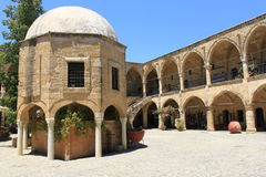 Buyuk Han. Art Center in Nicosia, Cyprus royalty free stock photo