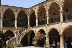 Buyuk Han Caravaserai, Nicosia, Noordelijk Cyprus Royalty-vrije Stock Afbeeldingen