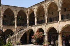 Buyuk Han Caravaserai, Nicosie, Chypre du nord Images libres de droits
