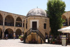 Buyuk Han Caravaserai, Nicosie, Chypre du nord Photographie stock