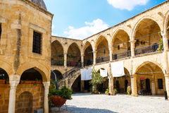 Buyuk Han (The Great Inn) Nicosia, North Cyprus. Ancient Ottoman architectire royalty free stock images