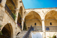 Buyuk Han (The Great Inn) Nicosia, North Cyprus. Ancient Ottoman architectire royalty free stock photography