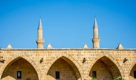 Buyuk Han och Selimiye moské royaltyfri bild